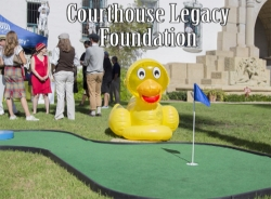 Santa Barbara Courthouse Legacy Foundation golf hole and ducky