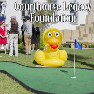 Santa Barbara Courthouse Legacy Foundation golf hole and ducky