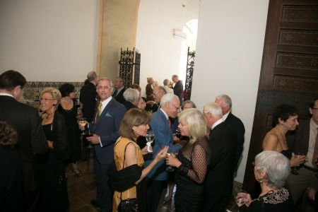 Board members mix with honored guests