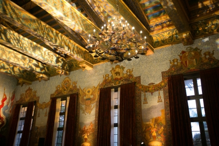 Mural Room ceiling and window treatments are also works of art!