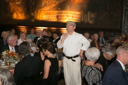 County Architect Robert Ooley as Dan Sayer Grosbeck, Mural Room artist