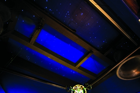 Gallery ceiling with constellations